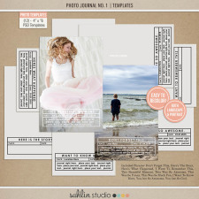 Photo Journal No. 1 (4x6 Photo Templates) by Sahlin Studio - Perfect for Project Life albums!!