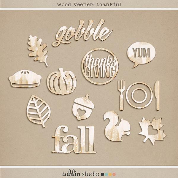 Wood Veneer: Thankful by Sahlin Studio