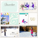 December digital pocket scrapbooking page by aballen featuring Shine Bright Kit and Journal Cards by Sahlin Studio