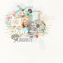 Shine digital scrapbooking page by amymallory featuring Shine Bright Kit and Journal Cards by Sahlin Studio