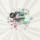 Be You digital scrapbooking page by margelz featuring Shine Bright Kit and Journal Cards by Sahlin Studio