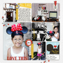 Disney My First Ears digital pocket scrapbooking page by fonnetta using Project Mouse (SouvenEARS) by Britt-ish Designs and Sahlin Studio