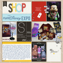 Run Disney Expo digital pocket scrapbooking page by heather using Project Mouse (SouvenEARS) by Britt-ish Designs and Sahlin Studio