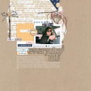 Everyday LIfe digital scrapbooking page by HeatherPrins using The Everyday Routine by Sahlin Studio