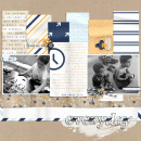 Our Crazy Life digital scrapbooking page by PuSticks using The Everyday Routine by Sahlin Studio