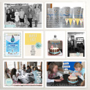 Frozen Birthday hybrid pocket scrapbooking page by ctmm4 using Birthday Cake by Sahlin Studio