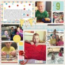 Celebrate You digital pocket scrapbooking page by mamatothree using Birthday Cake by Sahlin Studio