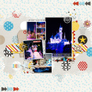 Disney Remember Forever digital scrapbooking page by aballen using Project Mouse Basics (No.2) by Britt-ish Designs & Sahlin Studio