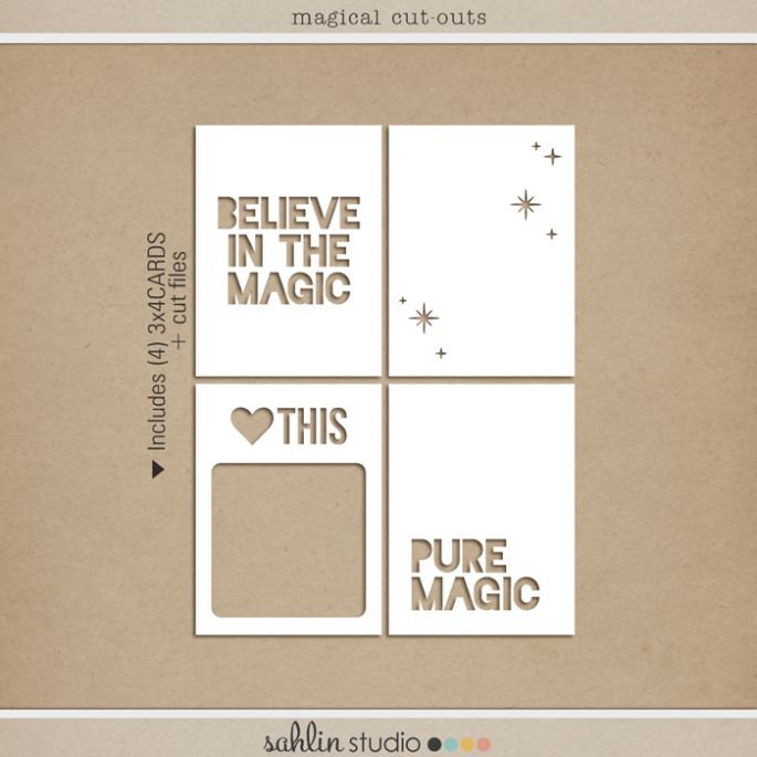Magical Cut Outs - Cut Files (png, svg, dxf) FREEBIE by Sahlin Studio - Perfect for your Disney Project Life albums