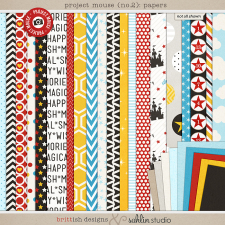 Project Mouse (No.2): Paper by Britt-ish Designs & Sahlin Studio & Perfect for your Project Life album!