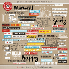 Project Mouse (No.2): Word Bits by Britt-ish Designs & Sahlin Studio & Perfect for your Project Life album!