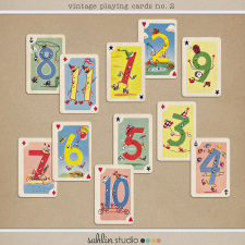 Vintage Playing Cards no. 2 by Sahlin Studio