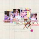 Happy Birthday digital scrapbooking page by kristasahlin using Birthday Cake by Sahlin Studio