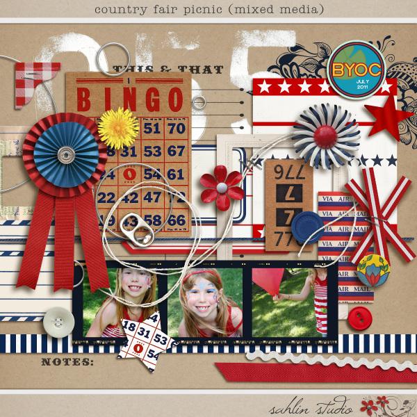 Country Fair Picnic (Mixed Media) by Sahlin Studio
