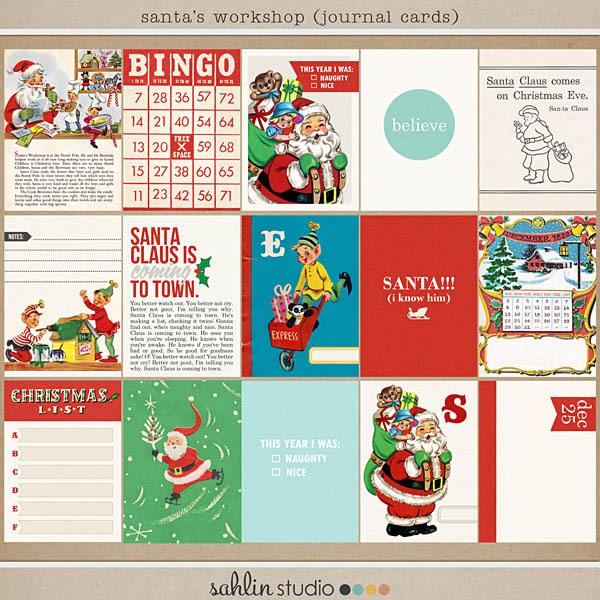 Santa's Workshop (Journal Cards) by Sahlin Studio