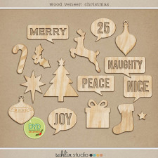 Wood Veneer: Christmas by Sahlin Studio