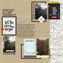 "Travel digital scrapbook layout by TNAnderson using ""You Are Here"" collection by Sahlin Studio"