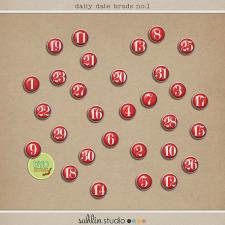 Daily Date Brads No. 1 by Sahlin Studio