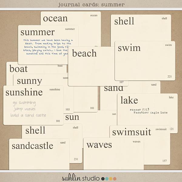 Journal Cards: Summer by Sahlin Studio