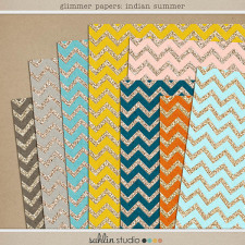 Glimmer Papers: Indian Summer by Sahlin Studio