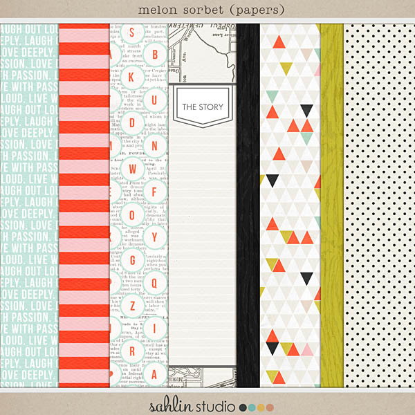 Melon Sorbet (Papers) by Sahlin Studio
