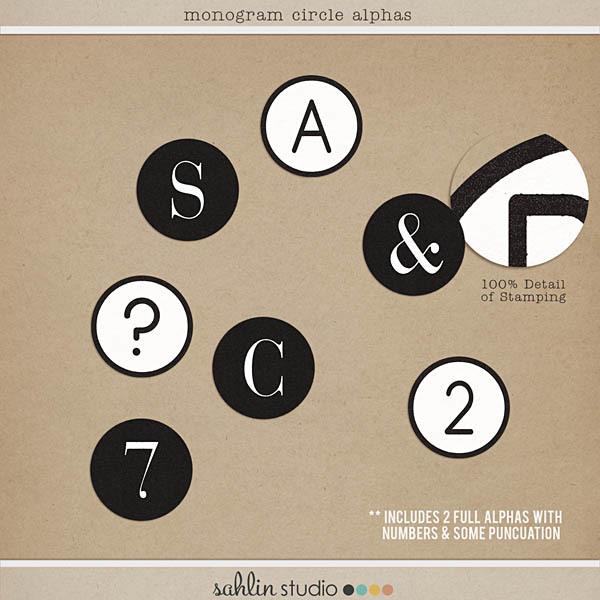 Monogram Circle Alphas by Sahlin Studio