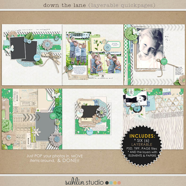 Down the Lane (Layerable Quickpages) by Sahlin Studio