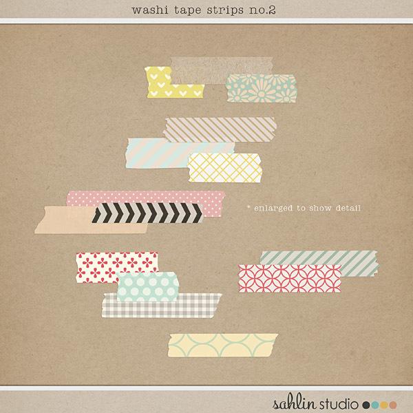 Washi Tape Strips no. 2 by Sahlin Studio
