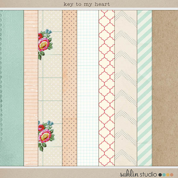 Key to My Heart (Papers) by Sahlin Studio