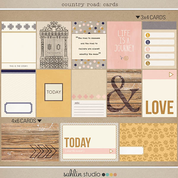 Country Road (Journal Cards) by Sahlin Studio