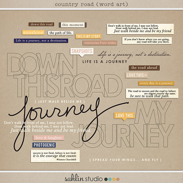 Country Road (Word Art) by Sahlin Studio