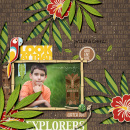 Explorers digital scrapbooking page by Damayanti using Project Mouse (Adventure) by Britt-ish Designs and Sahlin Studio