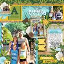 Disney's Animal Kingdom digital scrapbooking page by cindys732003 using Project Mouse (Adventure) by Britt-ish Designs and Sahlin Studio
