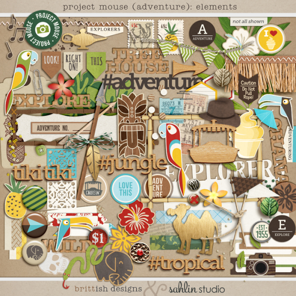 Project Mouse (Adventure): Elements by Britt-ish Designs and Sahlin Studio