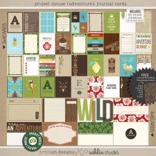 Project Mouse (Adventure): Journal Cards | Digital Journal Cards | Britt-ish Designs and Sahlin Studio - Perfect for your Project Life or Project Mouse album!!