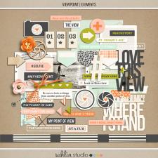 Viewpoint (Elements) | Digital Scrapbook Elements | by Sahlin Studio