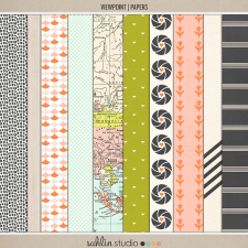 Viewpoint (Papers) | Digital Scrapbook Papers | by Sahlin Studio
