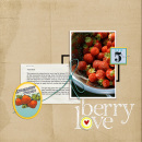 layout created by Strange.Bird featuring Vintage Labels: Sweet Sips by Sahlin Studio