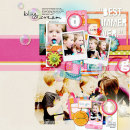 digital scrapbook layout created by amberr featuring Retro Color Press Papers by Sahlin Studio