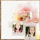 layout by amberr featuring butterflies: drawn and spritz by sahlin studio