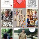 July So Much Joy digital pocket scrapbooking page by Celeste using Celebrate Kit by sahlin studio