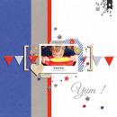 Yum digital scrapbooking page by Nancy Beck using Celebrate Kit by sahlin studio