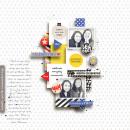 Celebrating digital scrapbooking page by margelz using Celebrate Kit by sahlin studio