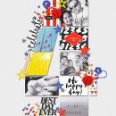 Celebrate digital pocket scrapbooking page by marnel using Celebrate Kit by sahlin studio