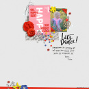 Lets Dance digital scrapbooking page by sucali using Celebrate Kit by sahlin studio