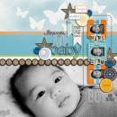 digital scrapbook layout created by dianeskie featuring Retro Color Press Papers by Sahlin Studio