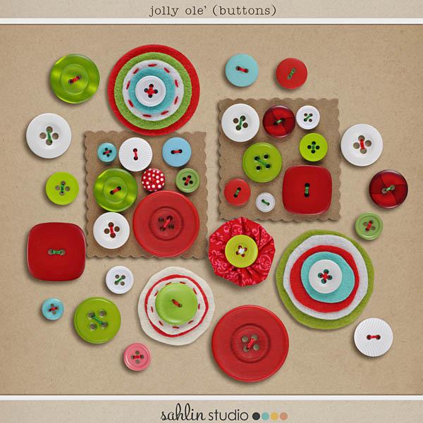 Jolly Ole' (Buttons) by Sahlin Studio