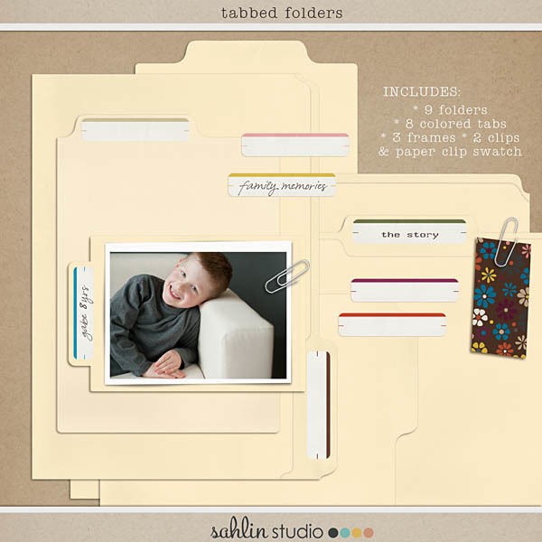 Tabbed Folders by Sahlin Studio