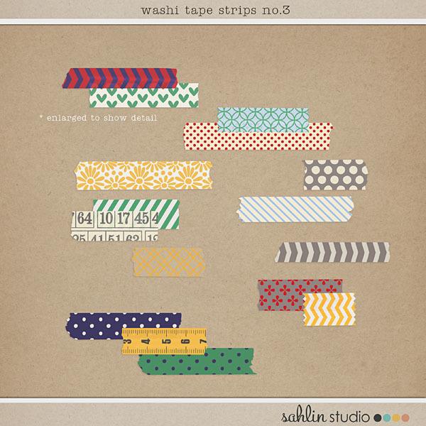 Washi Tape Strips No. 3 by Sahlin Studio