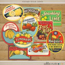 Vintage Labels: Sweet Sips by Sahlin Studio
